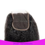 Diritto crespo della chiusura dei capelli delle parti del Virgin delle donne all'ingrosso dei capelli