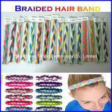 Las vendas del estiramiento para las muchachas trenzaron el estiramiento Headwear Hairband tejido los deportes