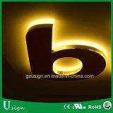 Cartas de canal puestas a contraluz muy brillantes de 3D LED para el departamento