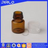 янтарная пробирка стеклянной бутылки 1ml с срывает крышку для пробирки стекла образца эфирного масла медицинской пользы
