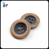 Botón de madera de imitación de la resina del color de la mezcla de la vendimia