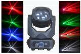 새로운 도착 4X25W 광속 백색/RGBW 4in1 LED 이동하는 맨 위 빛