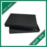 Черная коробка подарка ювелирных изделий картона с крышкой