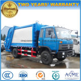 6 las ruedas 4X2 los desperdicios del carro de basura del compresor de 10 a 12 metros cúbicos cerco para la venta