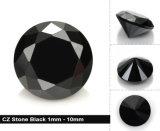 CZ lâche 1 mm - 10 mm Pierre de zircon cubique noire synthétique