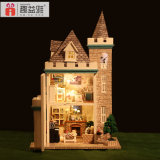 3D Puzzle Doll House DIY Toy de madeira