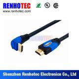 정각 및 똑바른 HDMI 연결관
