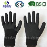 Enduit de nitriles, gants de travail de sûreté de fini de Sandy (SL-NS115)