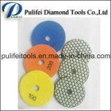 화강암 대리석 콘크리트 돌을%s 수지 노예 다이아몬드 닦는 패드