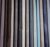 Tela casera colorida del terciopelo de la tapicería para la cubierta del sofá