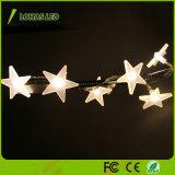 Chiristmasの装飾のための暖かい白RGBの適用範囲が広い星LEDストリングライト
