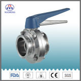 Válvula de mariposa embridada manual del acero inoxidable (3A-RD2111)