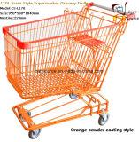 Chariot à manches d'épicerie de supermarché de style 170L