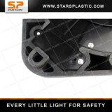 Cône compressible lourd de circulation de PVC avec la base et l'éclairage LED en caoutchouc