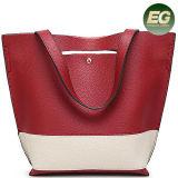 جديدة وصول حمل مصمّم حقيبة يد تباين لون سيدة [بغ] مع شريط طويلة [س8435]
