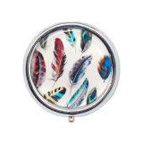 ホーム装飾の記念品の骨董品の円形の週間金属の丸薬ボックス