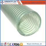 Pipe renforcée tressée de pompe à eau de boyau de fil d'acier de PVC de catégorie comestible
