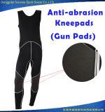 Мокрая одежда верхней части бака тельняшки Kneepads пушки неопрена людей 3mm занимаясь серфингом