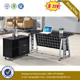 새로운 디자인 검정 유리제 최고 강철 프레임 사무실 테이블 (NS-GD003)