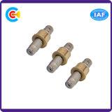 Acero inoxidable y latón/CNC de cobre que trabaja a máquina la funda hexagonal/Pin/tornillo