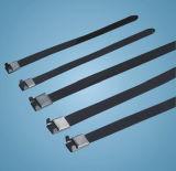 Tipo rivestito fascette ferma-cavo dell'ala del PVC dell'acciaio inossidabile