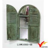 Dekorativer bewirtschaftendekoration-hölzerner Blendenverschluss-Spiegel mit Fächern