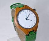 Вахта зеленой полосы PU неподдельной кожи деревянный