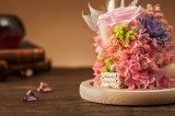 Bewaarde Natuurlijke Echt van 100% nam Bloem in Glas voor de Gift van de Verjaardag toe