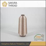 Металлическая резьба вышивки для ткани шнурка с свободно образцом