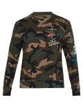 Kundenspezifische Form stickte Camo Druck-Sweatshirt