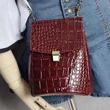 가장 새로운 형식 악어 합성 가죽 핸드백 여자 어깨에 매는 가방 Sy7940