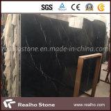 Marmo nero naturale cinese pretagliato di Marquina per la stanza da bagno