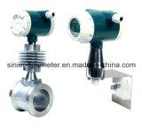 Tipo medidor da braçadeira de fluxo do Vortex da Ex-Prova da saída de pulso de Dn25 para medir o vapor do gás líquido