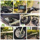 Bateria oculta com pneu gordo USB Bicicleta elétrica dobrável