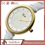 한 쌍 둥근 다이얼 모양 스테인리스 손목 시계