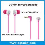 auriculares estereofónicos baixos dos fones de ouvido da em-Orelha de 3.5mm com Mic remoto