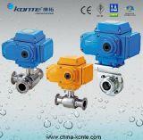 Válvula de bola sanitária elétrica de aço inoxidável 316 Kt