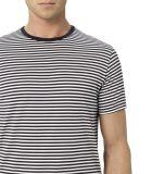 T-shirt rayé de coton de Strappping de l'été bon marché des hommes