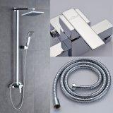 """Jogo do chuveiro do misturador do banheiro com cabeça chuveiro do quadrado 8 de """" e suporte Handheld do chuveiro"""