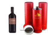 Contenitore impaccante di tubo del documento del contenitore di regalo del vino del cilindro