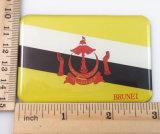 Regalo del imán del refrigerador del papel de imprenta de la insignia de Brunei de la promoción del recuerdo