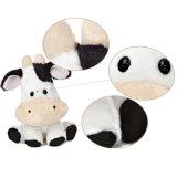 De leuke Baby van de Koe van het Landbouwbedrijf met Stuk speelgoed het Van uitstekende kwaliteit van de Pluche