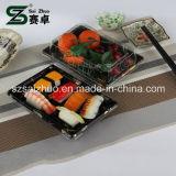 꽃 인쇄된 최고 급료 처분할 수 있는 플라스틱 초밥 상자 (S09)