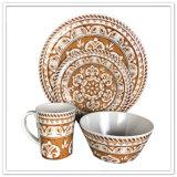 A porcelana diferente do projeto do uso moderno da família gosta do jogo de jantar 4PCS