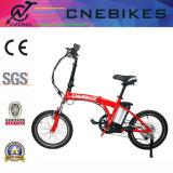 赤いカラー折られた電気バイク