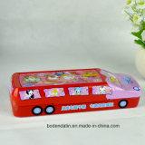 Kundenspezifisches Metallharter Bus-Form-Bleistift-Kasten, doppelter Bleistift-Kasten, doppelter Bleistift-Kasten