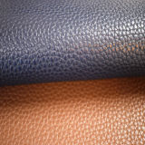 Couro sintético do teste padrão de Lichee para a tampa de assento do carro do sofá (HTS004)