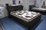 Base do couro da madeira contínua da mobília do quarto para a HOME