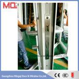 Porta de dobradura exterior do alumínio da fábrica de Guangzhou