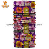Bandana tubular feito sob encomenda das senhoras coreanas com cópia da flor